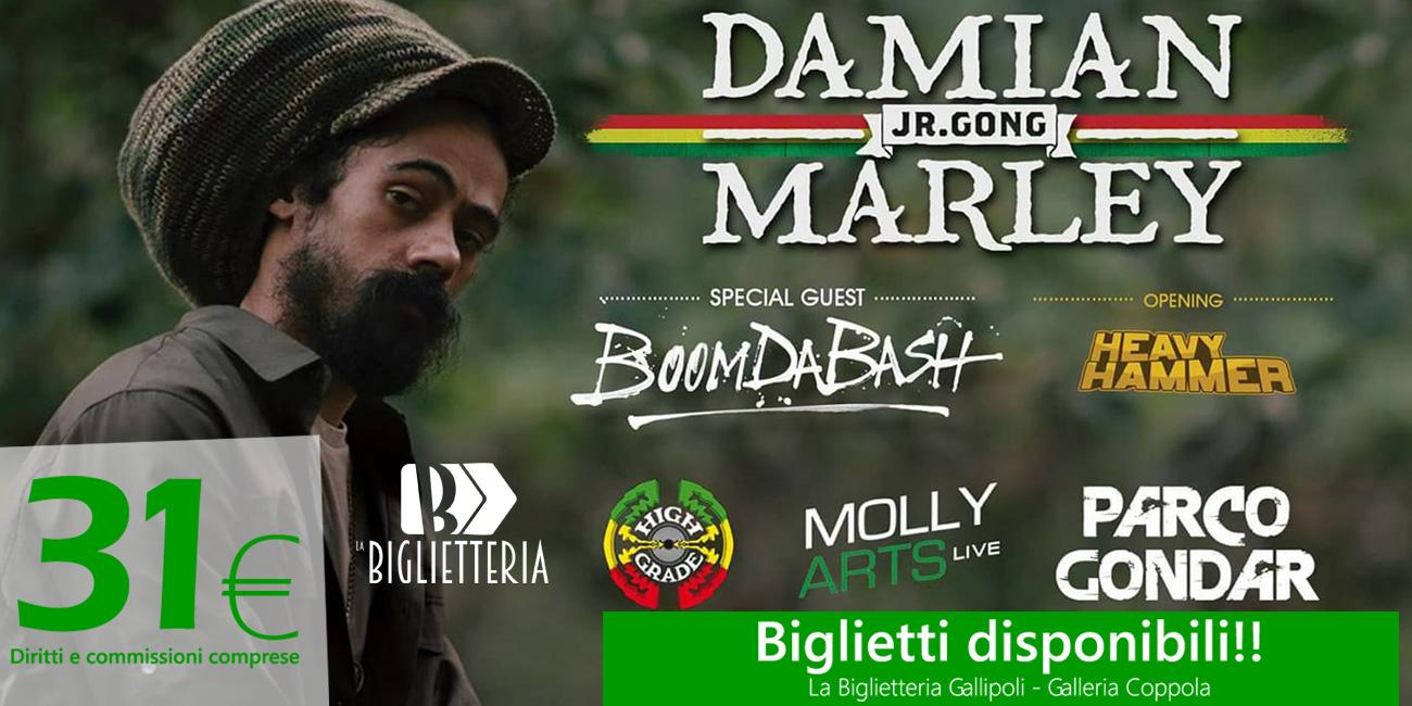Biglietti Damian Marley